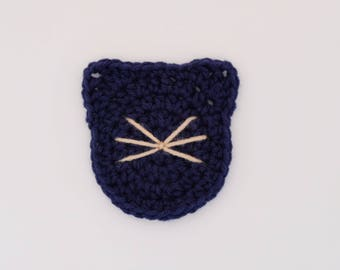 Crochet cat coasters (free shipping in US)