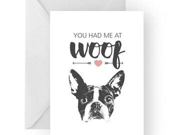 French Bulldog anniversary card- birthday card, love card, dog birthday card, bulldog anniversary, French bulldog birthday card