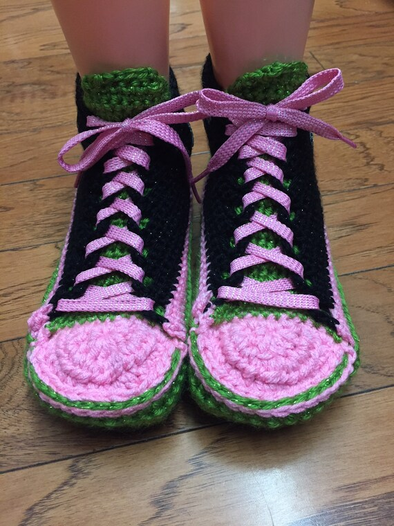 shoes crochet tennis 7 slippers shoe dragonfly 9 sneakers shoes sneaker dragonfly Crocheted Womens slippers dragonfly dragonfly pink house zwPqdfCax