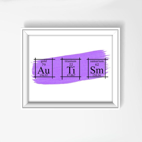 Autism wall art poster periodic table of elements art urtaz Gallery