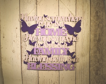 Housewarming gift, New home gift, Wooden home sign, Home accessories, Home decor, Wooden signs, Wall signs