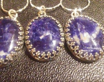 Sodalite in sterling silver