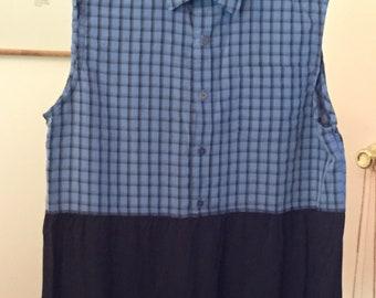 Black and Blue Shirt Tunic