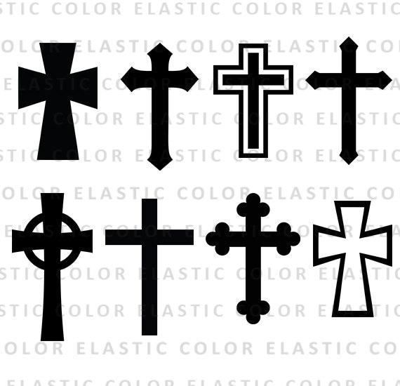 Cross Svg Silhouette Files Christian Svg Crosses Vector