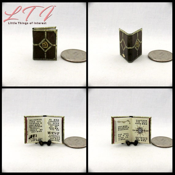 SHEPHERDS JOURNAL ATLANTIS Miniature Book Dollhouse 1:12 Scale Illustrated Book The Lost Empire Aziz