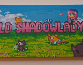 Pink shadow lady Inspired Minecraft Name Plaque Child's Bedroom Door