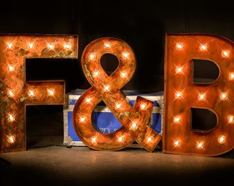 3 Letter Package, Marquee Letters, Marquee Light, Carnival Letter, Wedding,  Lighted