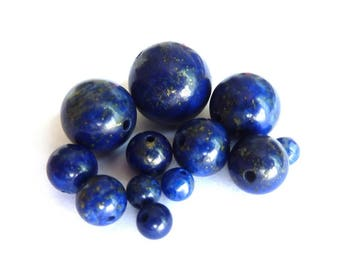 Lapiz lazuli Ø 6 mm PCH090 bead has individually gemstone gemstone semi precious