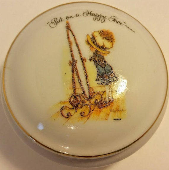 Holly Hobbie Trinket Box Vintage Jewelry Box Small Jewelry