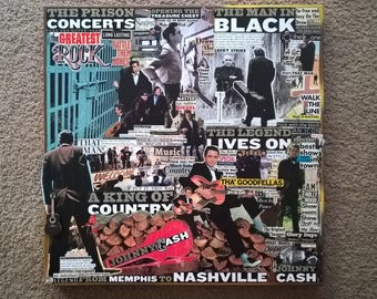 Johnny Cash - Legends Series Vintage Collage Art