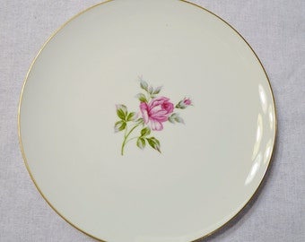 Vintage Symco Rose Lea Dinner Plate White Pink Rose Wedding China Replacement Made in Japan PanchosPorch