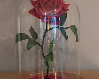 Beauty And The Beast Inspired Extra Large Rose Dome Light