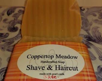Shave & a Haicut goats milk soap