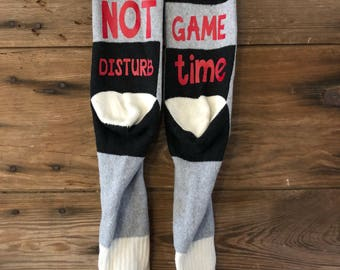 Do not disturb its game time socks