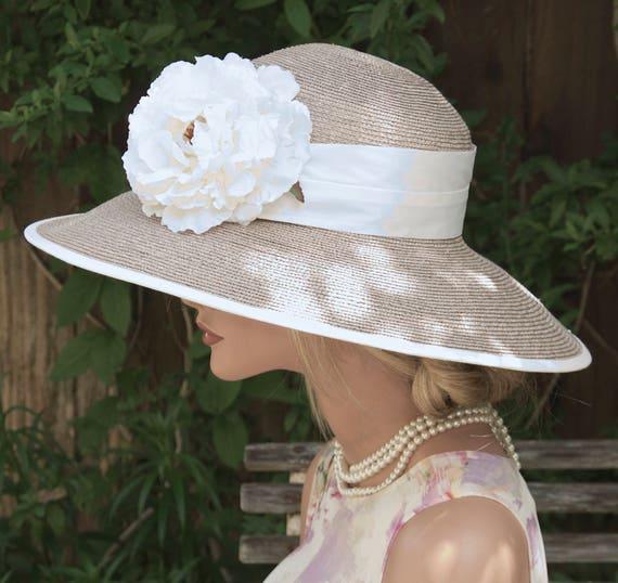 Wedding Hat, Derby Hat, Formal Hat, Church Hat, Ascot Hat, Taupe Hat, Audrey Hepburn Hat, Mother of Bride Hat