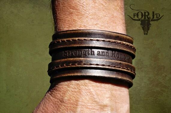 Vintage  Leather Cuff Bracelet,Genuine leather bracelet, Men's leather bracelet, Women's leather bracelet, Personalized leather bracelet