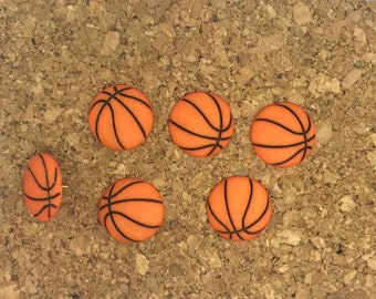 Basketball Push Pins or Magnets, Sports Push Pins, Cork Board Thumbtacks, Football Soccer Baseball, Gift Under 10