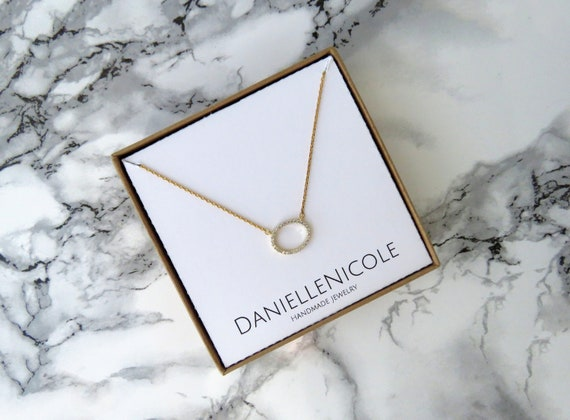 Dainty CZ Oval Necklace, Pendant Necklace, CZ Necklace, Cubic Zirconia, Simple Necklace, Dainty Jewelry, Everyday Jewelry, Gifts for Her
