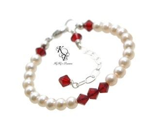 Birthstone Bracelet Baby Bracelet Toddler Girl Bracelet Little Girl Jewelry New Baby Gift Baby Gifts Birthstone Jewelry Girls Jewelry
