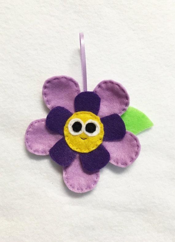 Flower Ornament, Christmas Ornament, Bloom the Flower, Felt Plant, Gift Topper, Spring Decoration