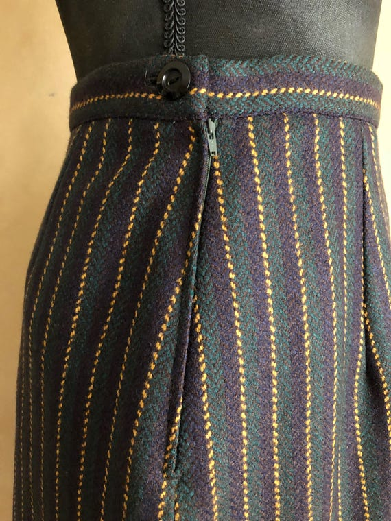 Vintage 70's Striped Wool Pencil skirt