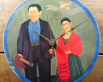 Frida and Diego Wall Clock