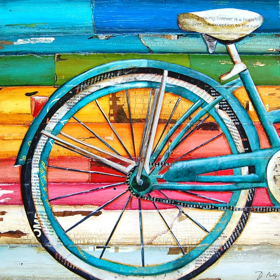 Bicycle Painting Near Me Of Art Print Or Canvas Bicycle Bike Biking Cycling Beach Ocean