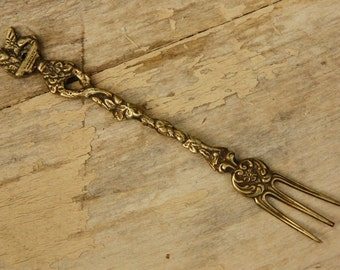 Vintage Silver Plated Italy Souvenir Fork/ Shabby Chic/ Hollywood Regency/ Collectible Silverware