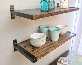 Modern Shelves | Industrial Shelves | Metal and Wood Shelves | Floating Shelves | Farmhouse Shelves | Rustic Shelves | Kitchen Shelves