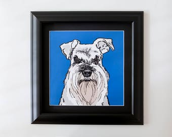 Schnauzer Framed Wall Art