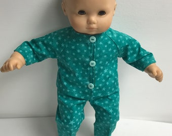 "American Girl Bitty Baby 15"" Doll Pajamas"