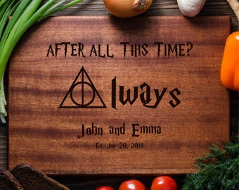 Harry Potter Personalized Cutting Board Personalized Custom Cutting Board Wedding Gift Cutting Board Deathly Hallows Harry Potter harry05