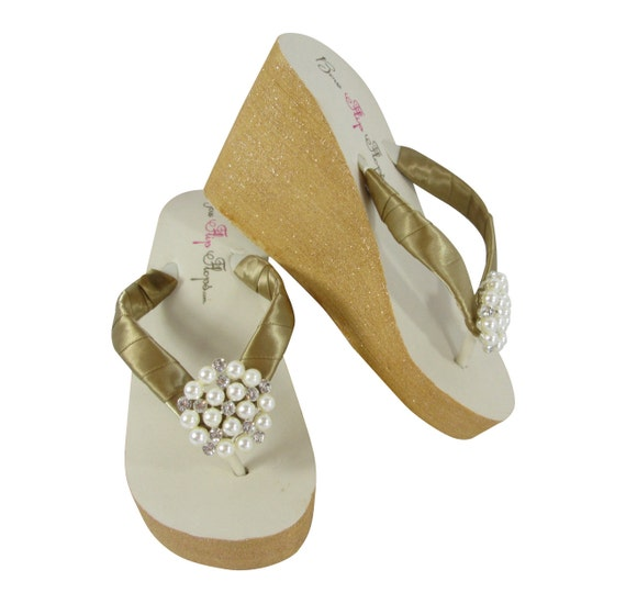 Green Box Blue Wedge with Flops glitter Starfish Wedding embellishment Tropic and Flip Gift Beach silver heel Iqw78Axz