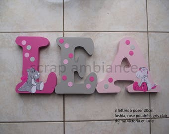 wooden, wooden name, letter to put name to put personalized victoria and Lucia