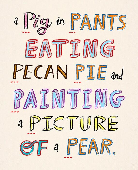 The Letter P - Children's Alphabet ABC art poster - Children's Decor -  Kids Room - Wall art - Art Print by Oliver Lake