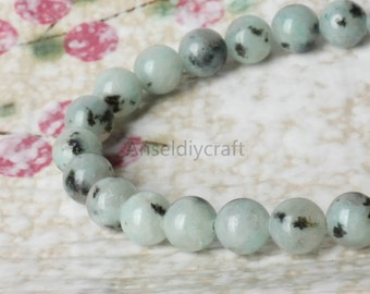 Natural Blue Jasper Beads Supplies, Full Strand 4 6 8 10mm Round Blue Jasper Beads for DIY Jewelry Making