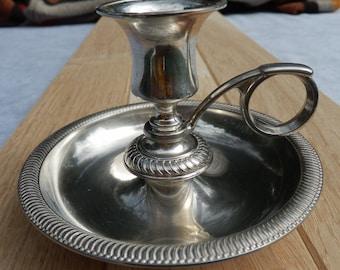 Candleholder vintage silver coloured