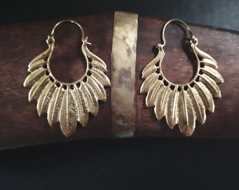 Hanging Brass Feathers
