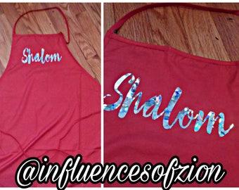 Shalom Apron Sparkle