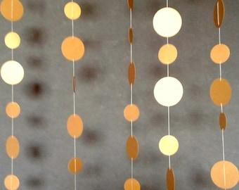Metallic Gold Circle Garland - 10 feet , Gold Wedding Décor, Gold Bridal Shower Décor, Gold Birthday Decor.