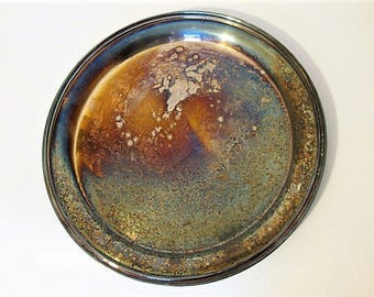 "The Sheffield Silver Co. Vintage 13"" Round Unpolished Platter Tray"