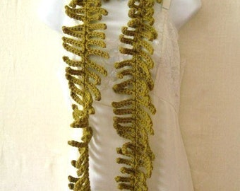 Fern Lariat Scarf  Crochet Pattern PDF  - permission to sell what you make