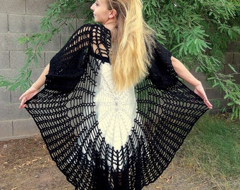 Raven Wings Spiderweb Mandala Tunic Vest and Gauntlets 3 Crochet PATTERNS