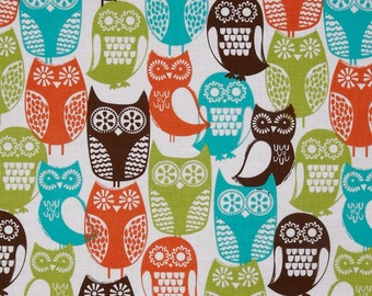 Sweedish Owls Fabric YARD
