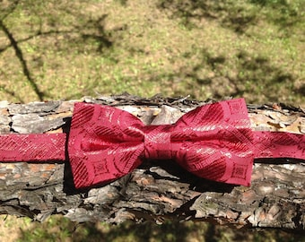 bow tie red wine brocard