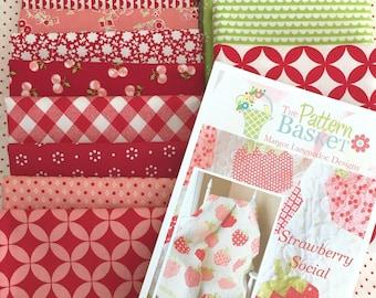 "Strawberry Social Quilt Kit, Uses Bonnie & Camille Fabrics from Moda Fabrics, 53"" x 66"""