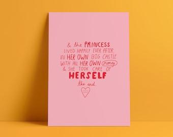 Princess A4 Art Print