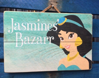 Princess Jasmines Bizarr Disney Inspired Handmade recycled Wood Art