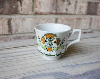 vintage floral teacup made in England
