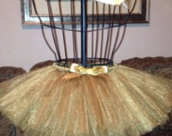 Shimmer Gold Tutu & Bow for your Princess!